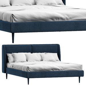 3D loulou blue bed jamni