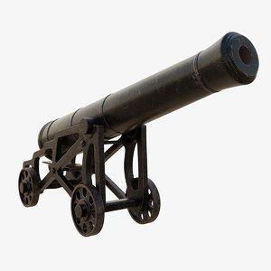 3D 24 pound bromefield cannon