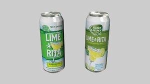 3D bear label lime model