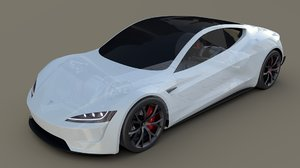 3D model tesla roadster chassis
