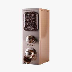 3D coffee bean dispenser