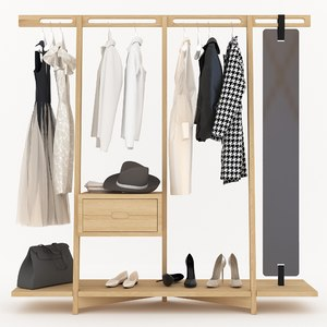 3D clothing rack model