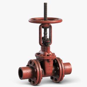 industrial pipe valve 1 3D model