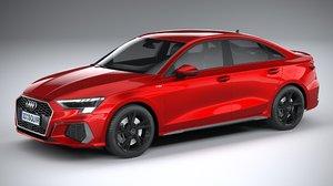 audi a3 sedan 3D model