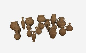 3D model pot pottery