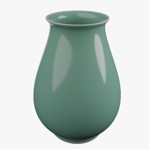 3D ceramic vase model