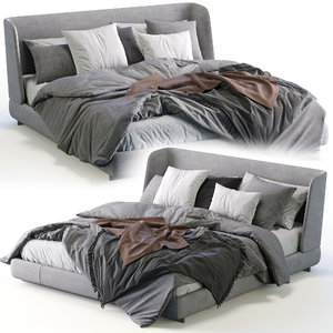3D model minotti creed bed