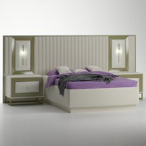 sofia modern bed 3D model