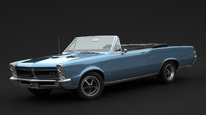 3D model pontiac gto convertible