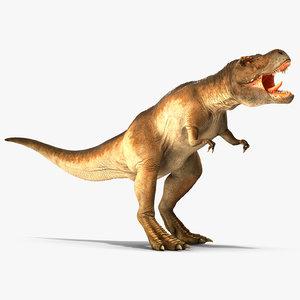 tyrannosaurus rex roaring animal model