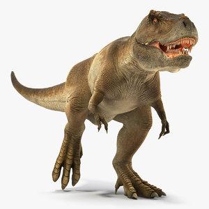 3D tyrannosaurus rex running dinosaur animal model