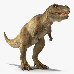 tyrannosaurus rex animal waiking 3D