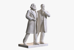 sculpture marx engels 3D model