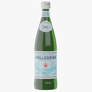 realistic san pellegrino water bottle model