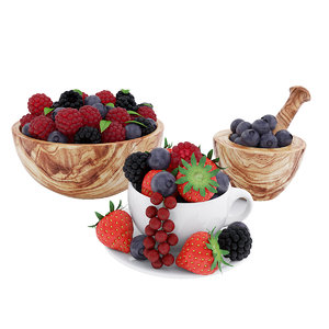 fruit food bowl 3D model