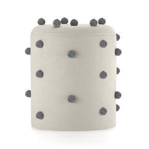 ferm dot tufted pouf 3D