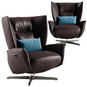 natuzzi tulip armchair model