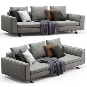 3D model busnelli sofa burton