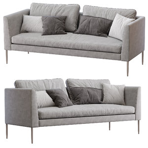 cor sofa pilotis 3D model