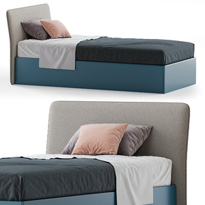 flare single bed 3D