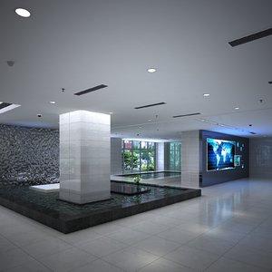 modern office 3D model