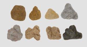 3D rock stone nature