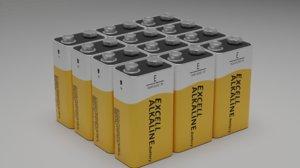 3D 9 square battery model