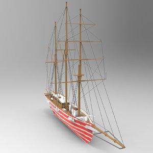 3D santa ship