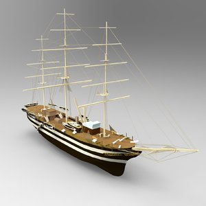 uss constitution ship 3D