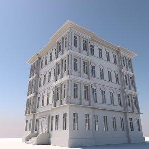 3D vintage building model