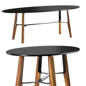 3D liu ct oval coffee table