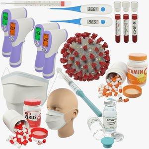 3D medical coronavirus v3 thermometer