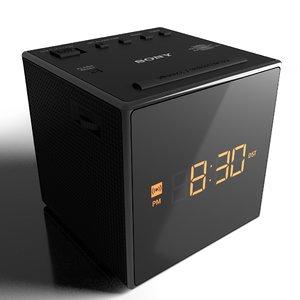 3D sony clock alarm radio