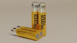 aaa 1 5v battery 3D model