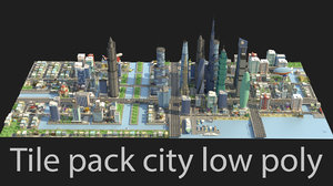 tile pack city building 3D model
