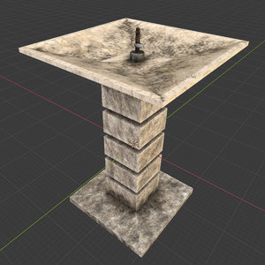 3D drinking fountain model