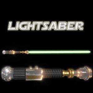 3D kenobi s lightsabers