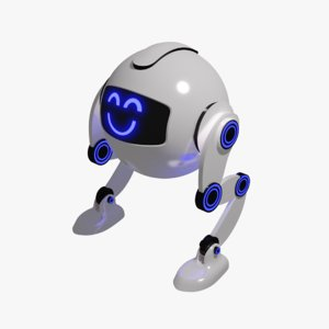 3D little robot smile model