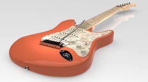 3D model stratocaster