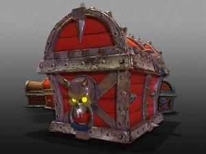3D treasure chests