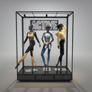 3D female mannequin sportswear model
