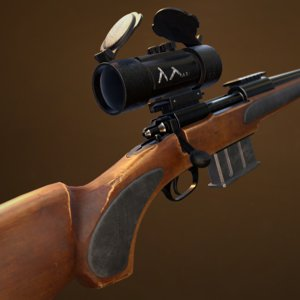 remington 700 rifle 3D