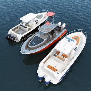327 motor boats belzona 3D model