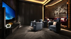 3D room private vip model
