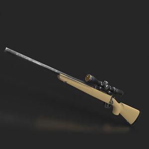 3D model gun remington 783