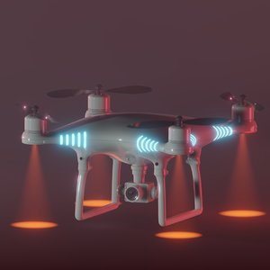 blender drone 3D