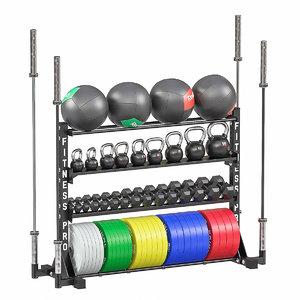 3D weight storage rack