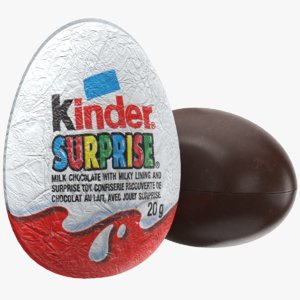 3D model real kinder egg
