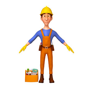 worker cartoon model