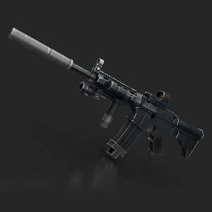 carbine gun m4 3D model
